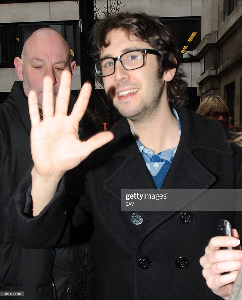 <a gi-track='captionPersonalityLinkClicked' href=/galleries/search?phrase=Josh+Groban&family=editorial&specificpeople=202917 ng-click='$event.stopPropagation()'>Josh Groban</a> pictured at Radio 2 on March 1, 2013 in London, England.