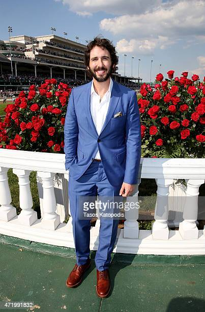 Josh Groban poses at the 141st Kentucky Derby at Churchill Downs on May 2 2015 in Louisville Kentucky