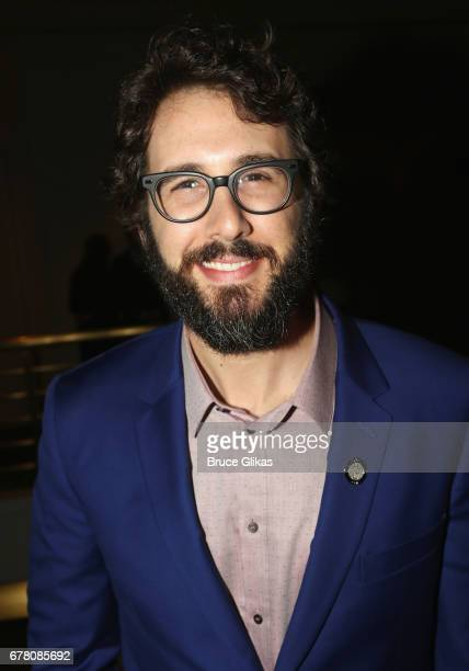 Josh Groban poses at The 71st Annual Tony Awards Meet the Nominees Press Junket at Sofitel Hotel on May 3 2017 in New York City