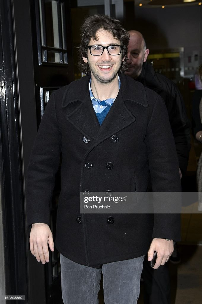 Josh Groban sighted departing BBC Radio 2 on March 1, 2013 in London, England.
