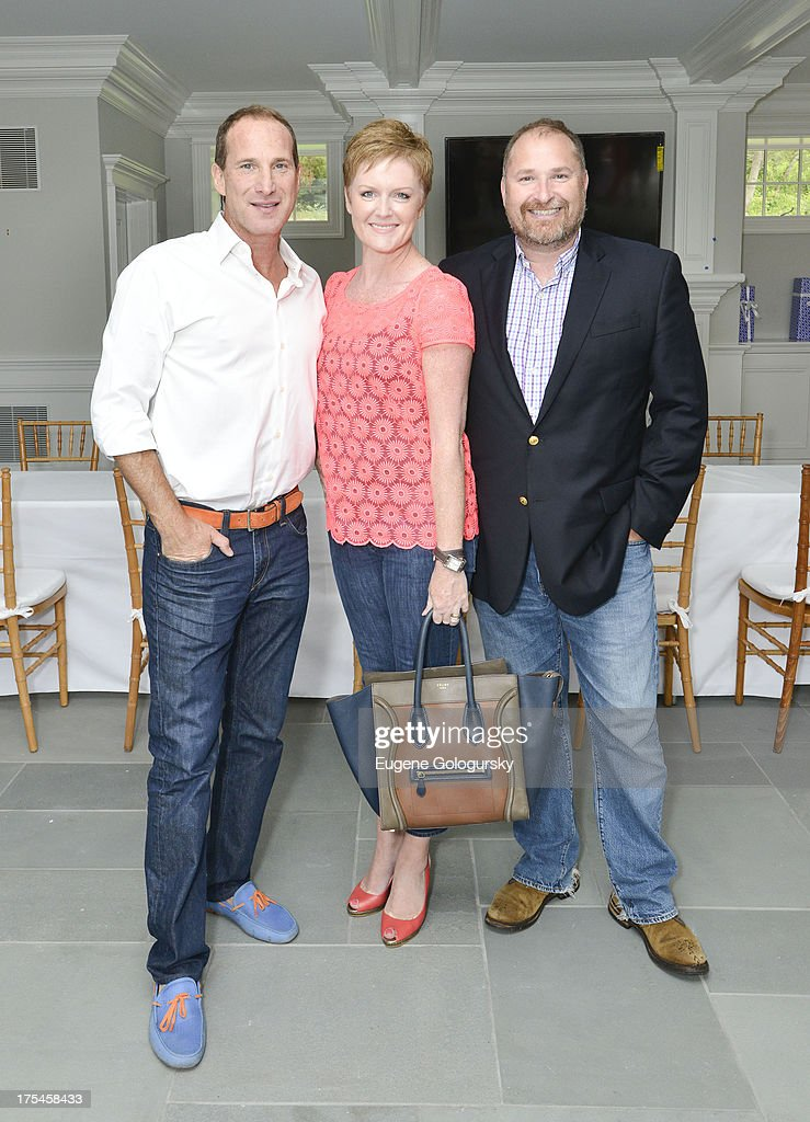 Josh Guberman, Mandi Norwood and Martin Belly attend the Hamptons Magazine Celebrates With Cover Stars, Jonathan Adler And Simon Doonan at Day Lily Estate on August 3, 2013 in Bridgehampton, New York.