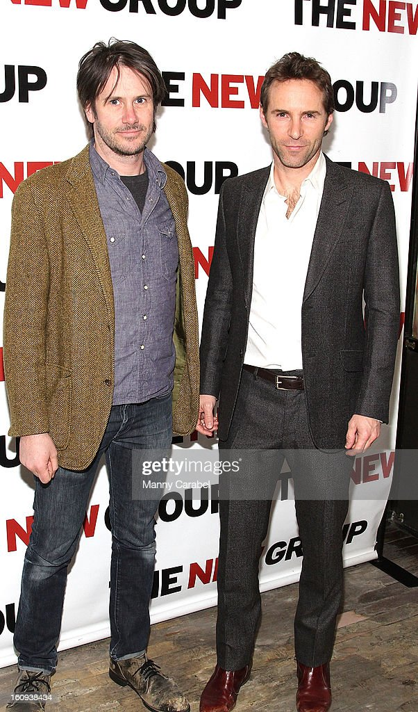 Josh Hamilton and Alessandro Nivola attend the World Premiere of 'Clive' at West Bank Cafe on February 7, 2013 in New York City.