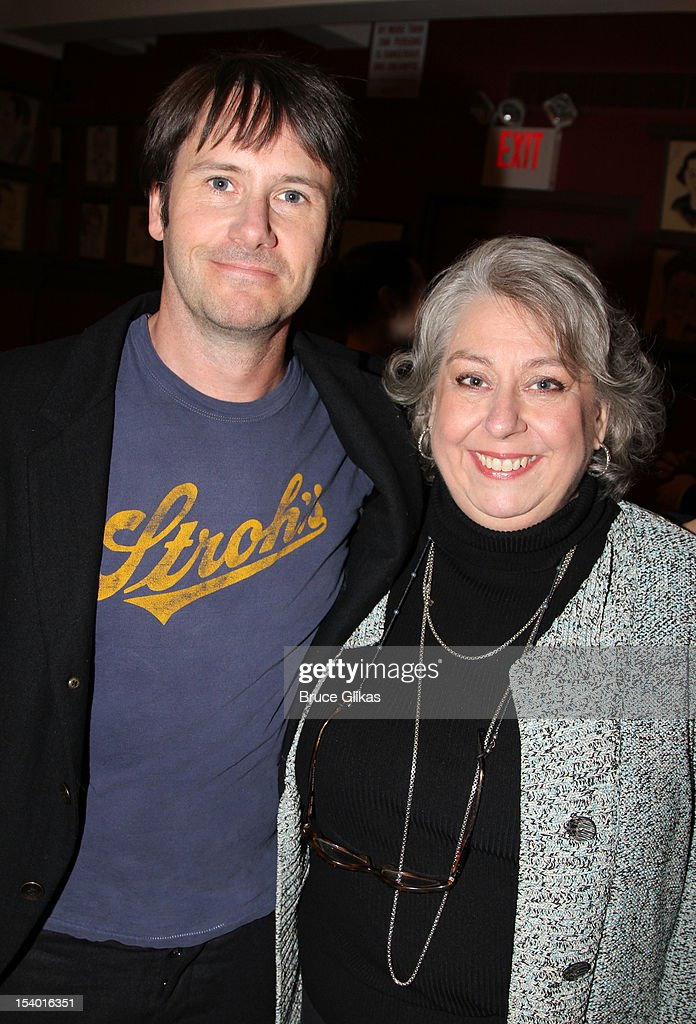 Josh Hamilton and Jayne Houdyshell attend the 'Dead Accounts' Broadway cast photocall at Sardi's on October 12, 2012 in New York City.