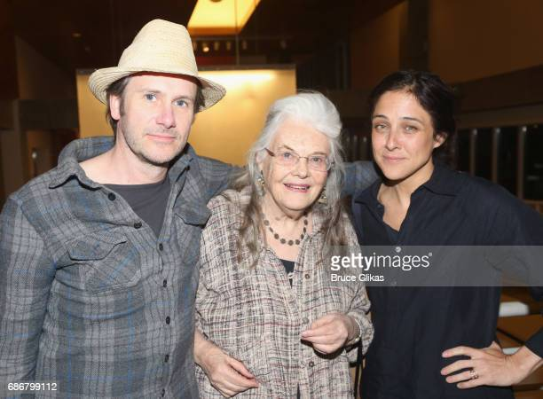 Josh Hamilton Lois Smith and Lily Thorne pose at the opening night party for The New Group Theater Company's new play 'Whirligig' at Social Drink and...