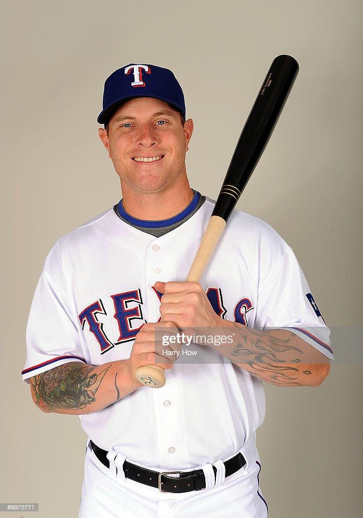 Josh Hamilton of the Texas Rangers poses during photo day at Surprise Stadium on February 24 2009 in Surprise Arizona