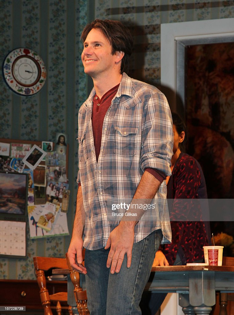 Josh Hamilton takes his curtain call on Opening Night of 'Dead Accounts' on Broadway at The Music Box Theatre on November 29, 2012 in New York City.