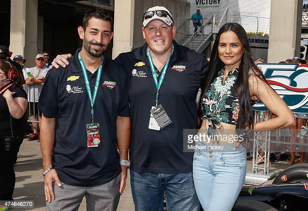 Josh Harris and Casey Mcmanus of Deadliest Catch and guest attends the Indy 500 on May 23 2015 in Indianapolis Indiana