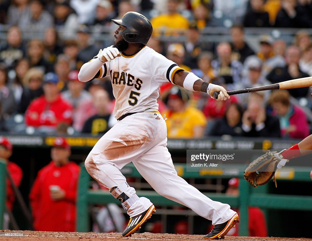 Starling marte photos photos cincinnati reds v pittsburgh pirates - Cincinnati Reds V Pittsburgh Pirates Josh Harrison 5 Of The Pittsburgh Pirates Hits A Rbi Double In The Seventh Inning