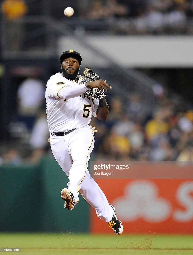 Starling marte photos photos cincinnati reds v pittsburgh pirates - Cincinnati Reds V Pittsburgh Pirates Josh Harrison 5 Of The Pittsburgh Pirates Throws Over To First Base During The Sixth
