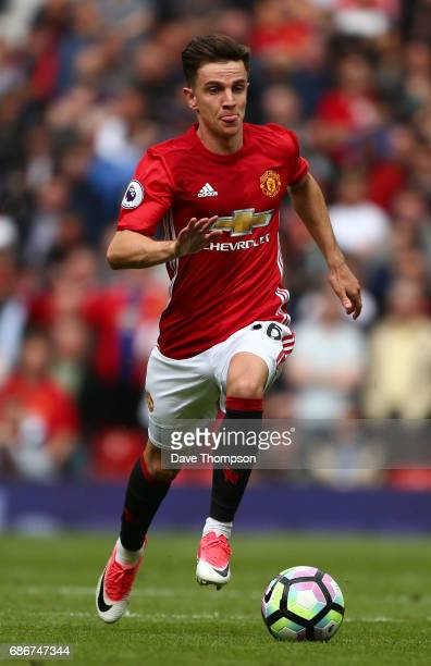 Josh Harrop of Manchester United during the Premier League match between Manchester United and Crystal Palace at Old Trafford on May 21 2017 in...