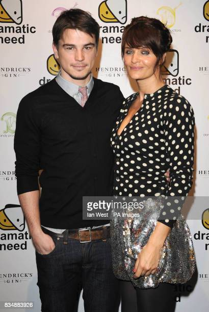 Josh Hartnett and Helena Christensen arrives at the Dramatic Need Carnival Spectacular at the Village Underground in London