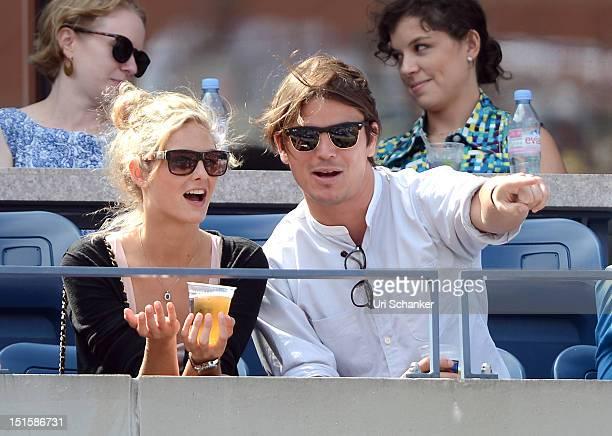 Josh Hartnett and Sophia Lie attend the 2012 US Open at USTA Billie Jean King National Tennis Center on September 8 2012 in New York City