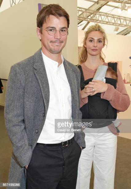 Josh Hartnett and Tamsin Egerton attend the Frieze Art Fair 2017 VIP Preview in Regent's Park on October 4 2017 in London England