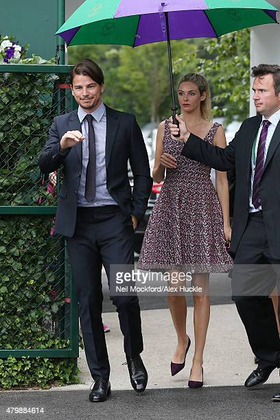 Josh Hartnett and Tamsin Egerton seen arriving at Wimbledon on July 8 2015 in London England