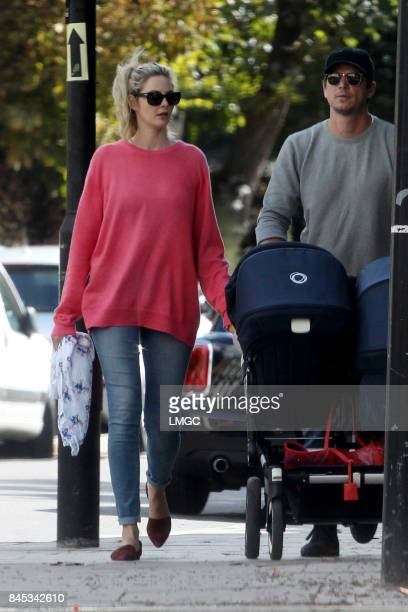 Josh Hartnett and Tamsin Egerton seen out in Primrose Hill on September 10 2017 in London England