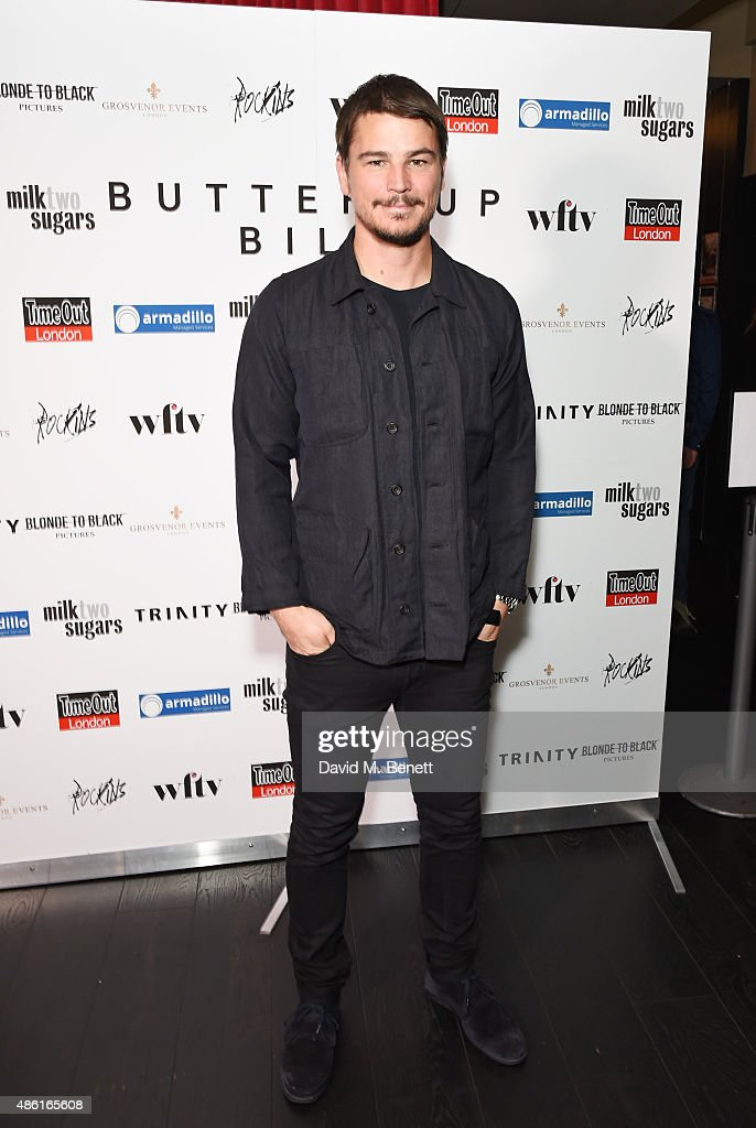 <a gi-track='captionPersonalityLinkClicked' href=/galleries/search?phrase=Josh+Hartnett&family=editorial&specificpeople=206503 ng-click='$event.stopPropagation()'>Josh Hartnett</a> attends the UK Premiere of 'Buttercup Bill' at Curzon Soho on September 1, 2015 in London, England.