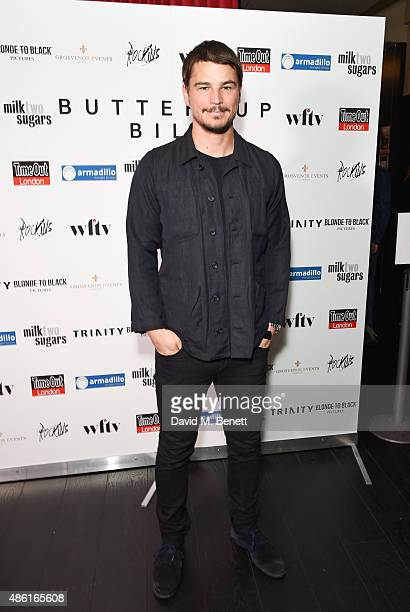 Josh Hartnett attends the UK Premiere of 'Buttercup Bill' at Curzon Soho on September 1 2015 in London England