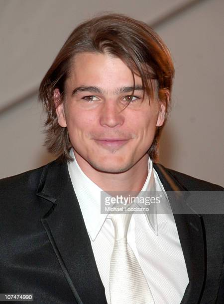 Josh Hartnett during 'AngloMania' Costume Institute Gala at The Metropolitan Museum of Art Departures Celebrating 'AngloMania Tradition and...