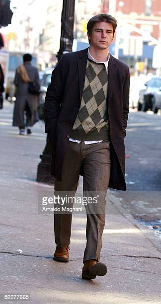 Josh Hartnett films his new movie 'Lucky Number Slevin' on Orchard Street March 4 2005 in New York City