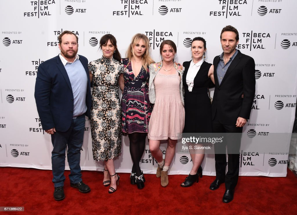 Josh Harto, Maggie Siff, Juno Temple, Olivia Luccardi, Liz W. Garcia and Alessandro Nivola attend 'One Percent More Humid' Premiere during the 2017 Tribeca Film Festival at SVA Theatre on April 21, 2017 in New York City.