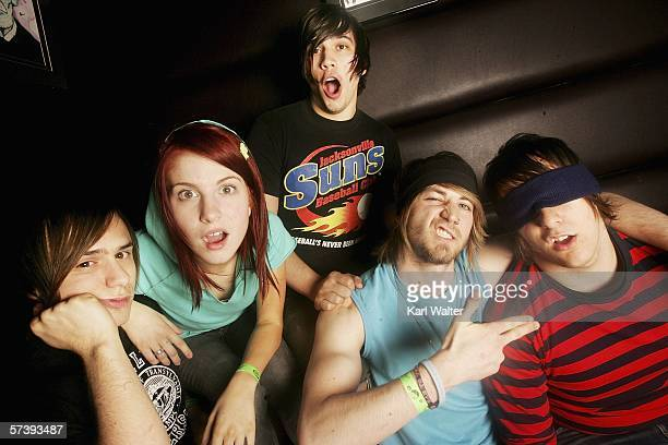 Josh Hayley Hunter Jeremy and Zac of Paramore are seen at the Warped Tour 2006 Press Night and Party at Plush at the Key Club on April 20 2006 in...