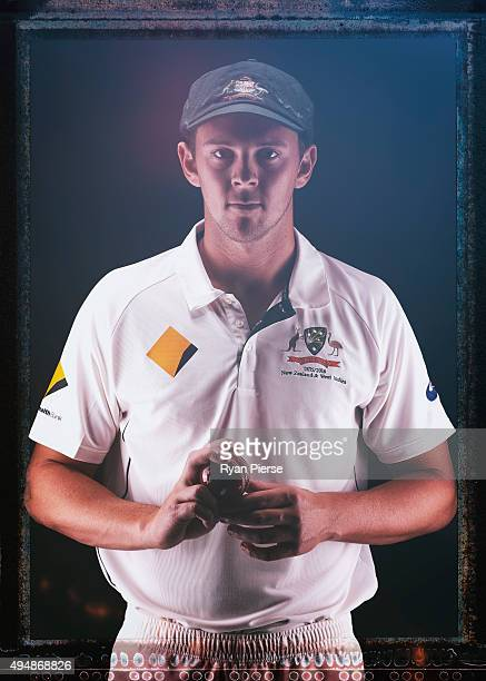 Josh Hazlewood of Australia poses during an Australian Test Cricket Portrait Session on October 19 2015 in Sydney Australia