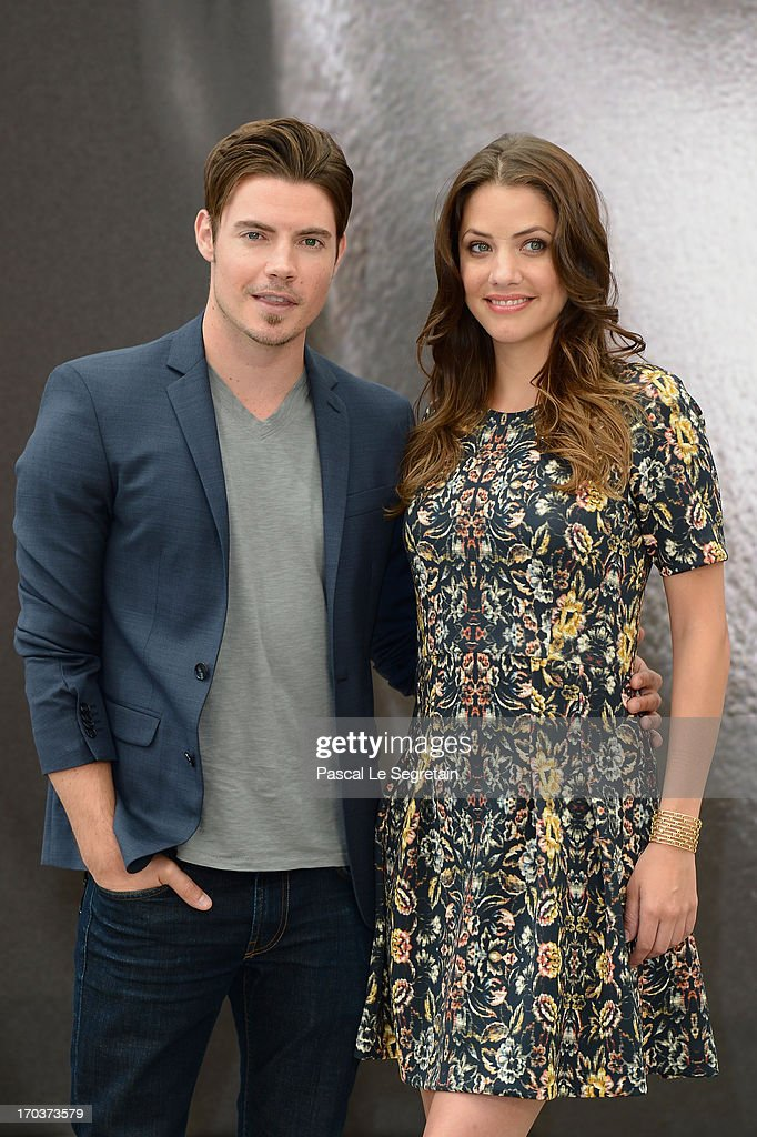 Josh Henderson (L) and Julie Gonzalo (R) poses at a photocall during the 53rd Monte Carlo TV Festival on June 12, 2013 in Monte-Carlo, Monaco.