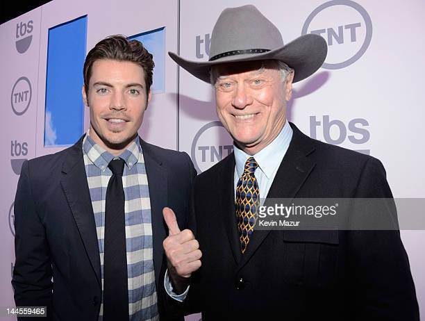Josh Henderson and Larry Hagman attend the TNT/ TBS Upfront 2012 at Hammerstein Ballroom on May 16 2012 in New York City 22362_001_0386JPG