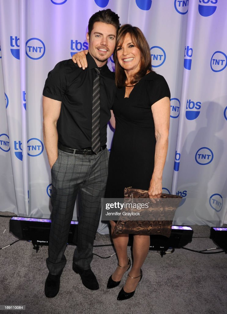 Josh Henderson and Linda Gray attend the 2013 TNT/TBS Upfront presentation at Hammerstein Ballroom on May 15, 2013 in New York City.