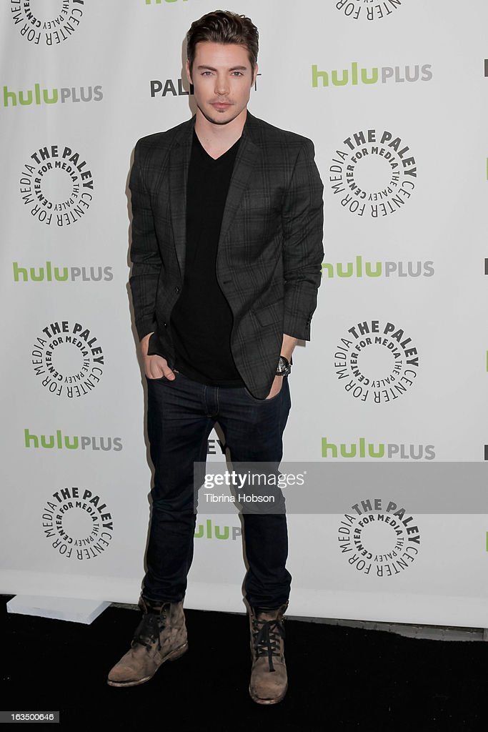 Josh Henderson arrives to the 30th annual PaleyFest for 'Dallas' at Saban Theatre on March 10, 2013 in Beverly Hills, California.