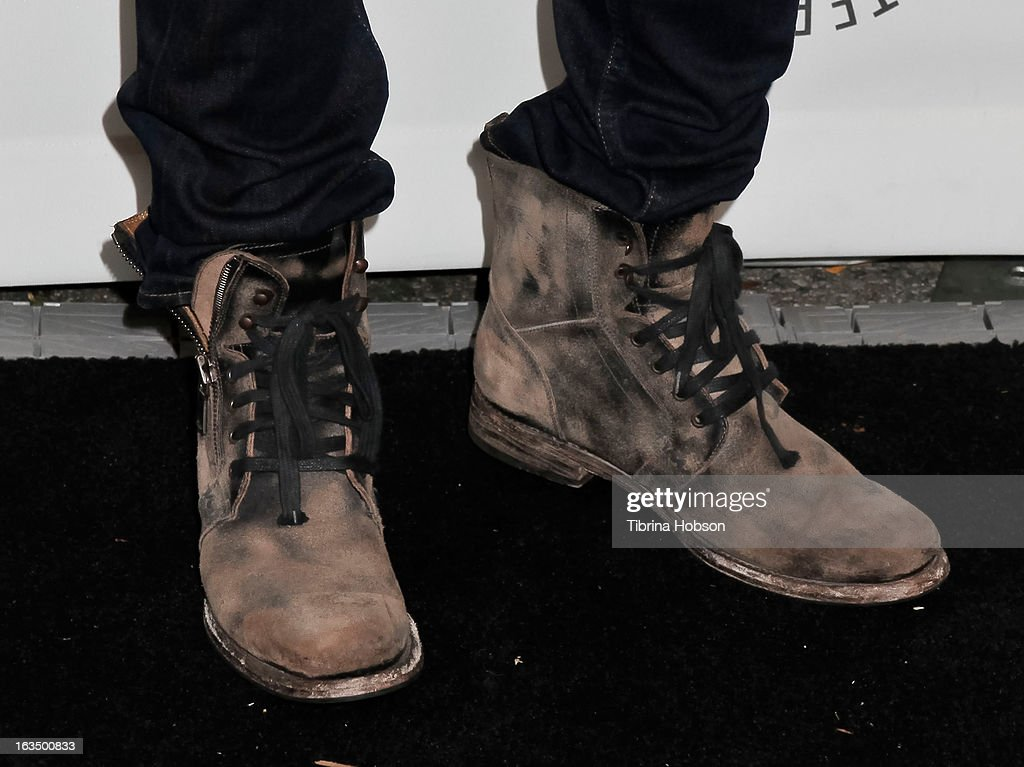 Josh Henderson (shoe detail) arrives to the 30th annual PaleyFest for 'Dallas' at Saban Theatre on March 10, 2013 in Beverly Hills, California.