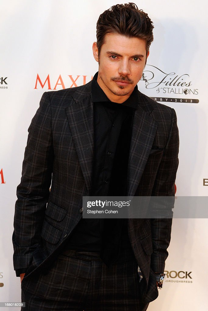 <a gi-track='captionPersonalityLinkClicked' href=/galleries/search?phrase=Josh+Henderson+-+Actor&family=editorial&specificpeople=635918 ng-click='$event.stopPropagation()'>Josh Henderson</a> attends the Maxim And Maker's 46 Fillies & Stallions Hosted By Blackrock at Mellwood Arts & Entertainment Center on May 3, 2013 in Louisville, Kentucky.
