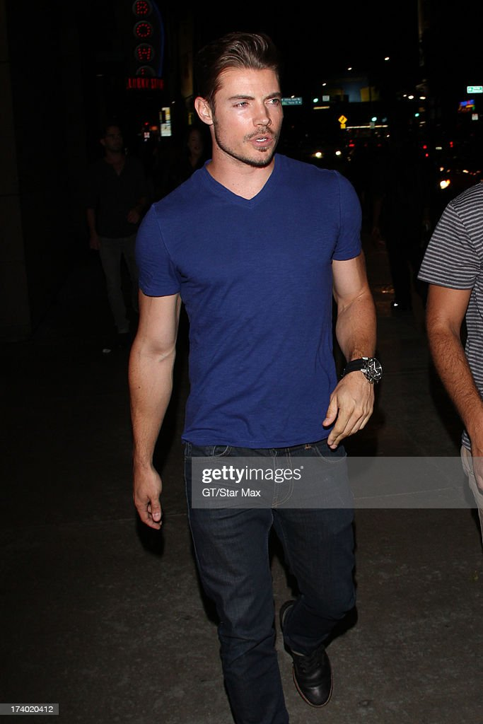 Josh Henderson is seen on July 18, 2013 in Los Angeles, California.