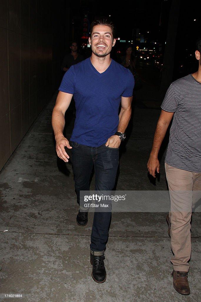Josh Henderson is seen on July 18, 2013 in Los Angeles, California.