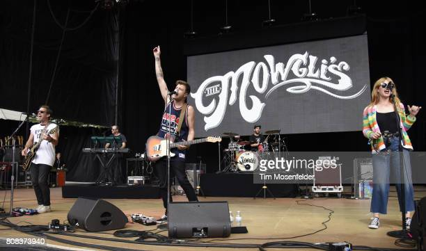 Josh Hogan Colin Dieden and Katie Earl of The Mowgli's perform during the ID10T Festival at Shoreline Amphitheatre on June 24 2017 in Mountain View...