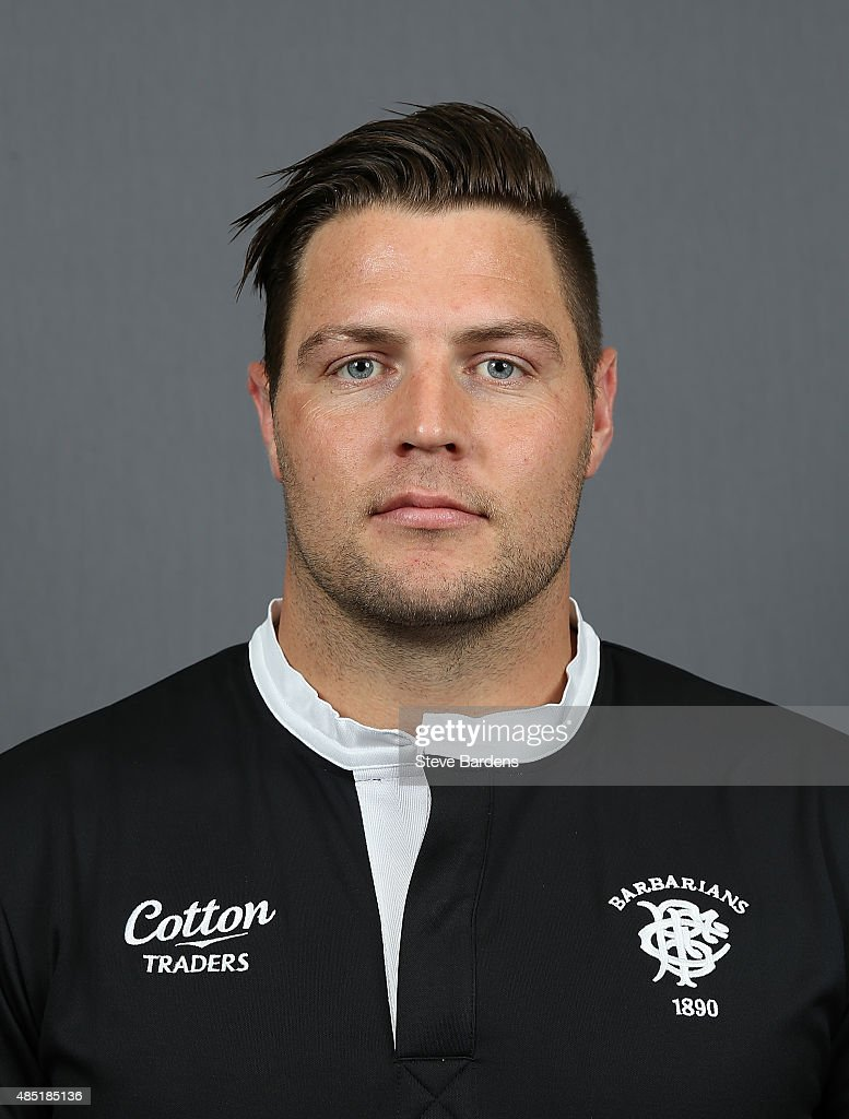 Josh Hohneck of the Barbarians poses for a portrait during the Barbarians photocall at the Westbury Hotel on August 25, 2015 in London, England.