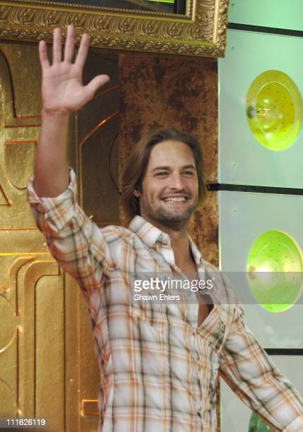 Josh Holloway during Josh Holloway Visits MTV's 'TRL' February 8 2006 at MTV Studios in New York New York United States