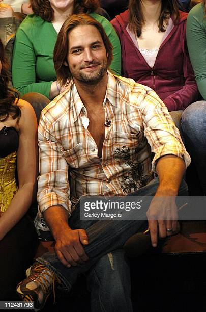 Josh Holloway during Josh Holloway Visits MTV's 'TRL' February 8 2006 at MTV Studios in New York City New York United States