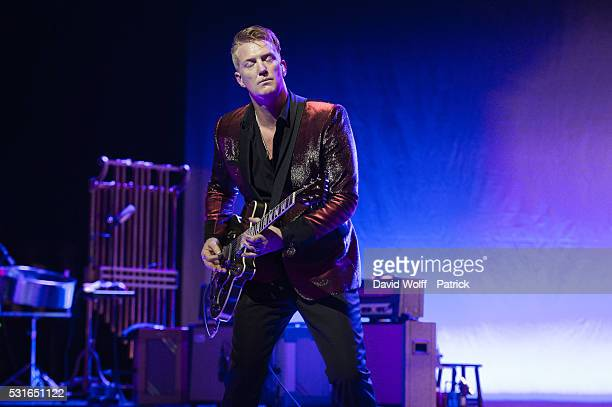 Josh Homme from Post Pop Depression performs at Le Grand Rex on May 15 2016 in Paris France