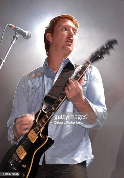 Josh Homme of Queens of the Stone Age during K Rock Klaus Fest at Nassau Coliseum in Long Island NY United States