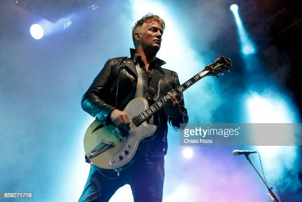 Josh Homme of Queens of the Stone Age performs at Reading Festival at Richfield Avenue on August 25 2017 in Reading England