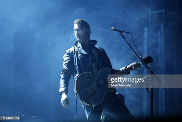 Josh Homme of Queens of The Stone Age performs during Splendour in the Grass 2017 on July 22 2017 in Byron Bay Australia