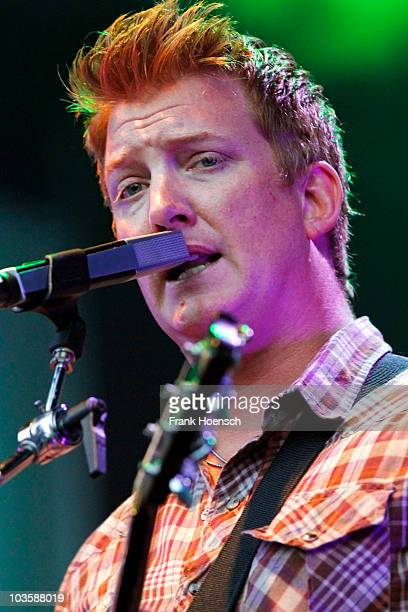 Josh Homme of Queens Of The Stone Age performs live during a concert at the Zitadelle on August 24 2010 in Berlin Germany