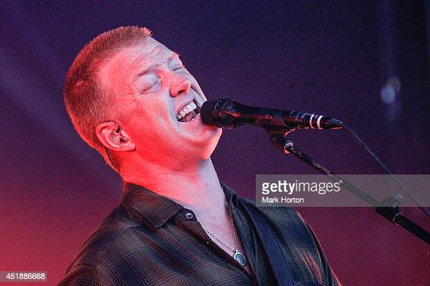 Josh Homme of Queens of the Stone Age performs on Day 5 of the RBC Royal Bank Bluesfest on July 8 2014 in Ottawa Canada