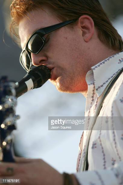Josh Homme performs with Desert Sessions during 2004 Coachella Valley Music Festival Day One at Empire Polo Fields in Indio California United States