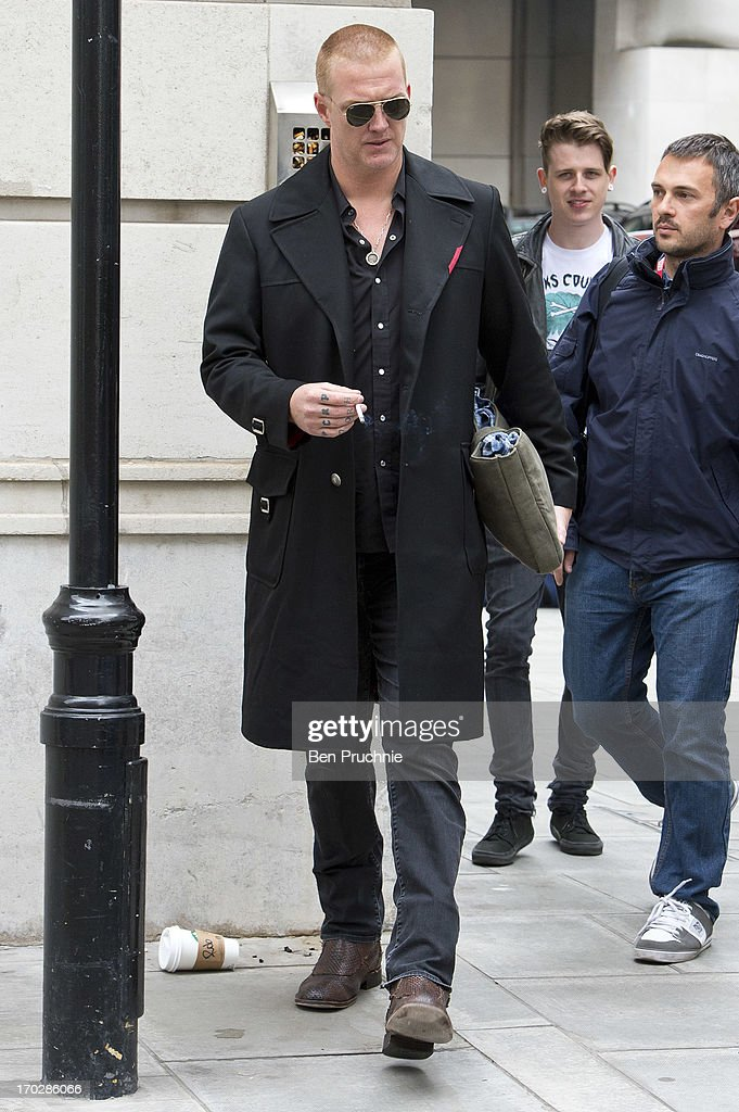 Josh Homme sighted at BBC Radio Studios on June 10, 2013 in London, England.