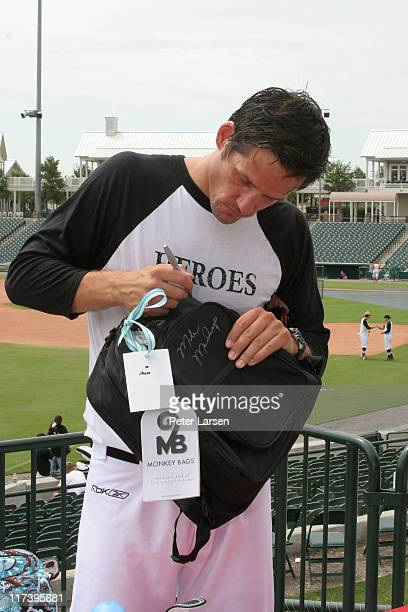Josh Hopkins during Klein Creative Communications Provides Gift Bags at the 2006 Reebok Heroes Celebrity Baseball Game at Dr Pepper Ballpark in...