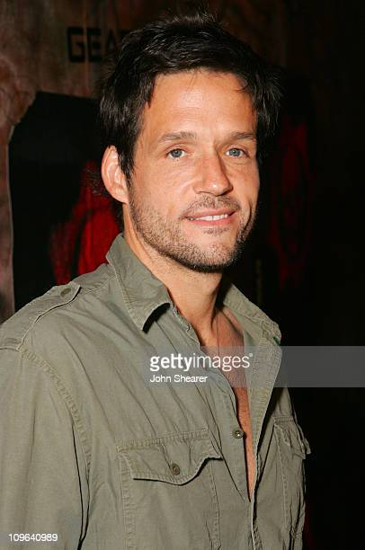 Josh Hopkins during Xbox 360 Gears of War Launch Party Red Carpet at Hollywood Forever Cemetery in Hollywood California United States