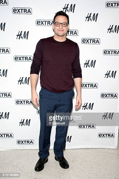 Josh Hopkins visits 'Extra' at their New York studios at HM in Times Square on March 1 2016 in New York City