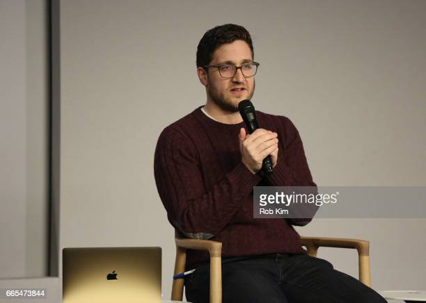Josh Horowitz of MTV moderates a discussion on 'The Fate Of The Furious' at Apple Store Soho on April 6 2017 in New York City